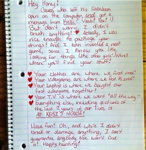 Creative Break-up Letter